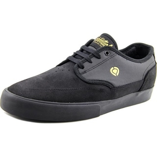 Circa Essential Youth Round Toe Leather Black Skate Shoe