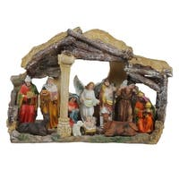 """18"""" Traditional Religious Christmas Nativity with Stable House Decoration - Multi"""