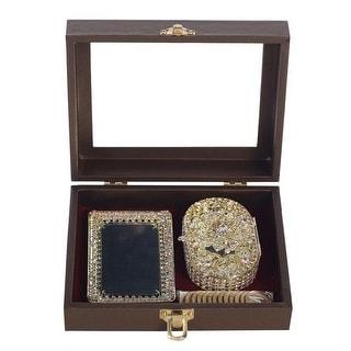 Angels Garment Gold Rhinestone Glitter Holder Coins Wedding Arras