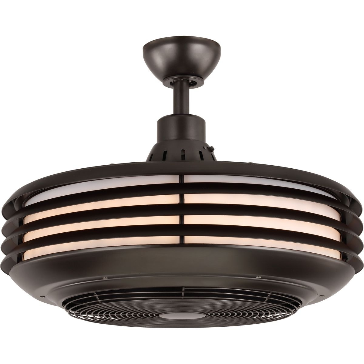 Image of: Shop Black Friday Deals On Sanford 24 Enclosed Indoor Outdoor Ceiling Fan With Led Light 15 580 X 26 120 X 26 120 On Sale Overstock 26295904