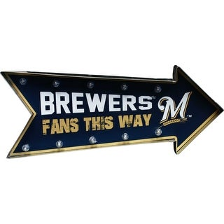 Milwaukee Brewers Arrow Marquee Sign