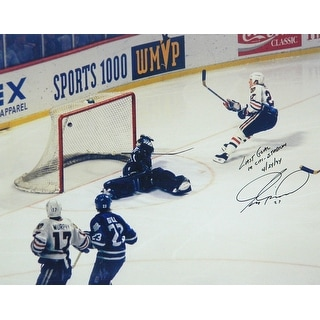 Jeremy Roenick Signed Blackhawks Last Goal at Chicago Stadium 16x20 Photo wLast Goal In Chi Stadium 42494