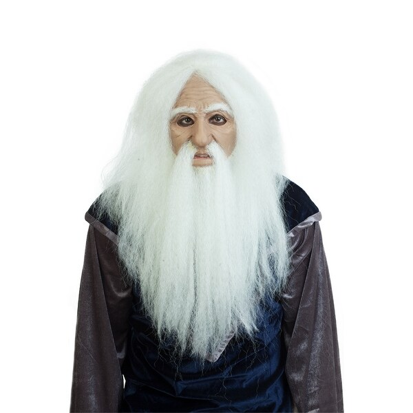 Adult Lord Merwyn the Wizard Mask - Standard - One Size. Opens flyout.