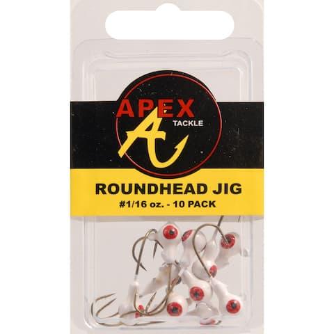 Apex ap116-10-5 jig heads 1/16oz 10pk wt