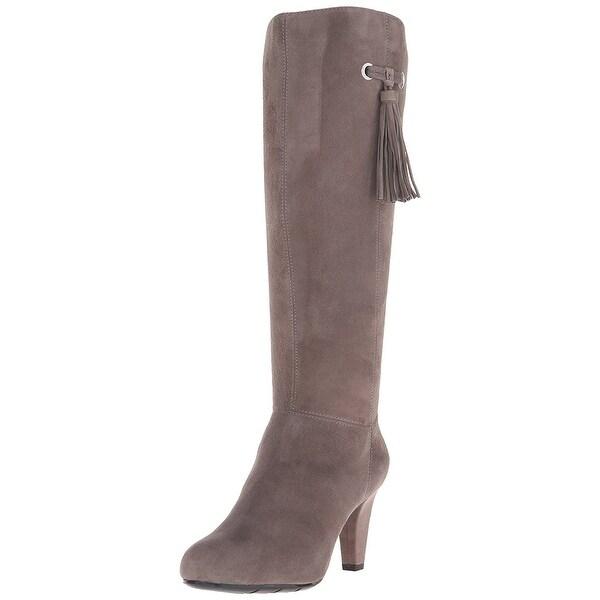 Bandolino Womens Bacia Leather Almond Toe Knee High Fashion Boots