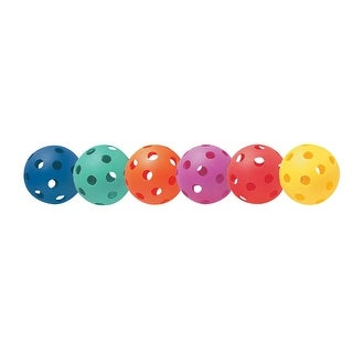 Champion Sports Plastic Baseball Set, 6-Color, Set of 6