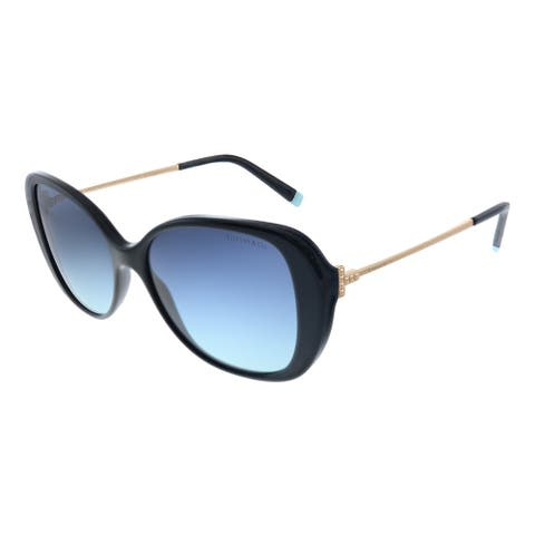 Tiffany & Co. TF 4156 80019S Womens Black Frame Blue Gradient Lens Sunglasses