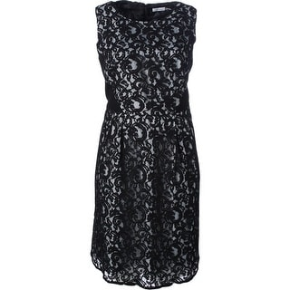 Calvin Klein Womens Plus Lace Pleated Wear to Work Dress - 20W
