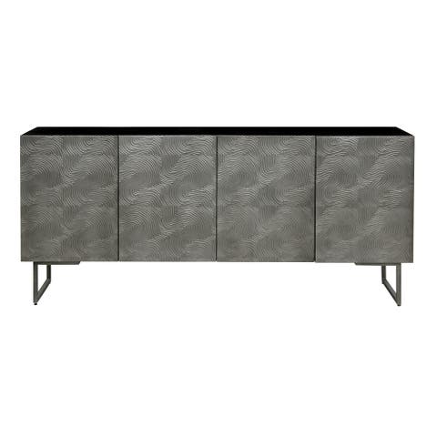 "Safavieh Couture Boone Abstract Wave 4-Door Sideboard - 67.5"" W x 19"" L x 30"" H"