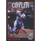 Milt Cuyler Detroit Tigers 1993 Donruss Triple Play Autographed Card  This item comes with a certif