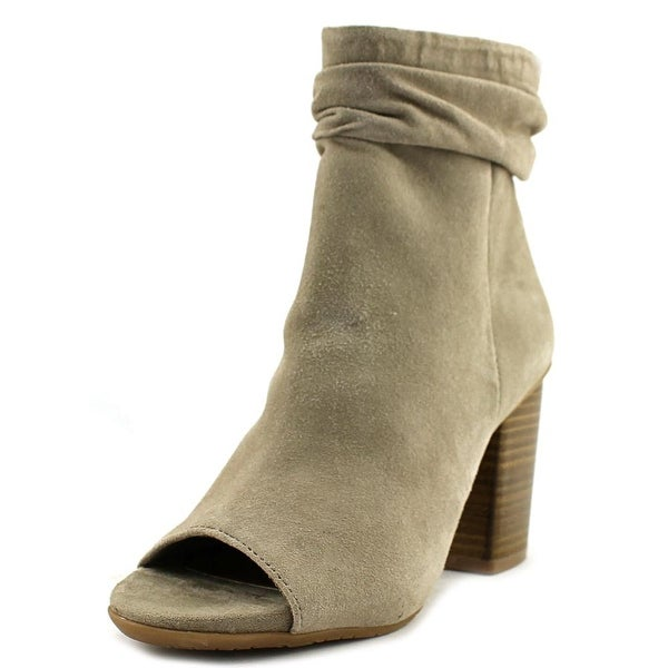 Kenneth Cole Reaction Fridah Cool Women Open-Toe Suede Gray Ankle Boot