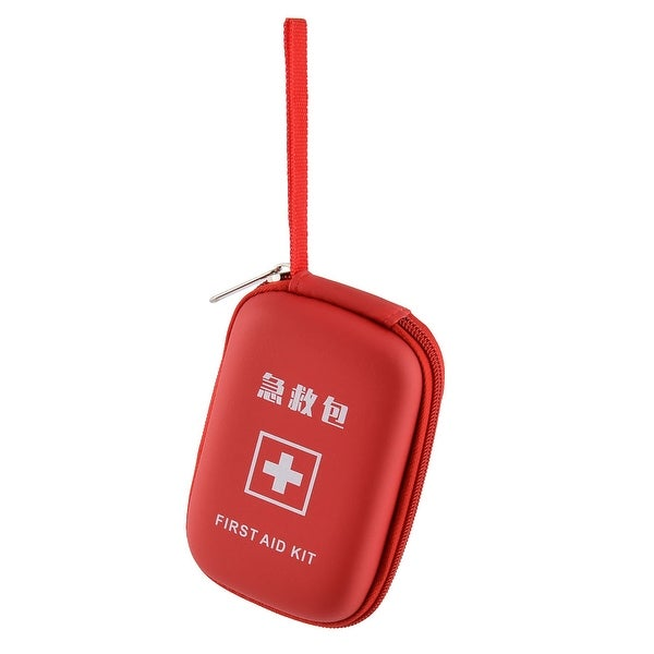 Home Outdoor Camping PU First Responder Aid Survival Rescue Storage Bag Red