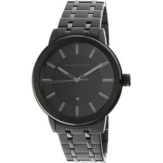 Armani Exchange Men's Maddox AX1457 Black Stainless-Steel Diving Watch