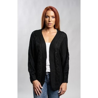 Black Long Sleeve Knit Cardigan