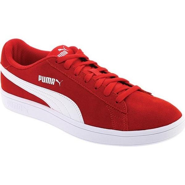 0b505ff5256 Shop PUMA Smash V2 Sneaker Ribbon Red PUMA White - Free Shipping ...