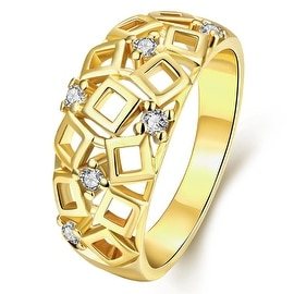 Cubed Inspired Gold Laser Cut Ring