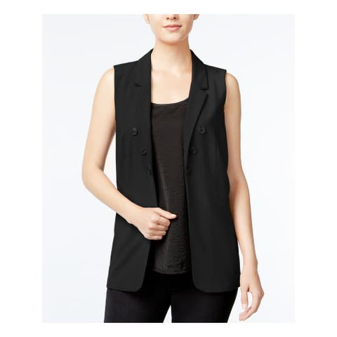 KENSIE Womens Black Suit Wear to Work Jacket Size M
