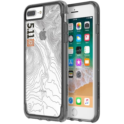 Griffin Survivor 5.11 Tactical Edition Protective Case for iPhone 8 Plus & 7 Plus - Clear/Black/Gray - Gray