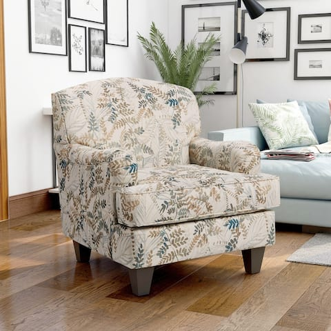 Furniture of America Haide Transitional Floral Pattern Armchair