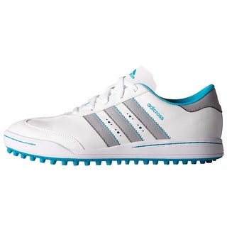 Adidas Junior Adicross V Running White/Mid Grey/Energy Blue Golf Shoes F33531