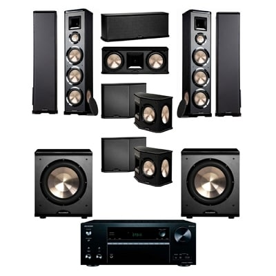 BIC Acoustech PL-980 7.2 Home Theater System-NEW!! PL-200II-Onkyo TX-NR676