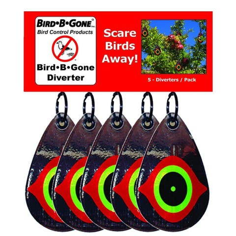 Bird-B-Gone MMSED-5 Reflective Scare Eye Diverter Bird Repellent, 5-Pack