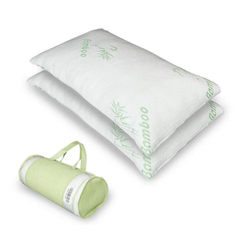Bamboo Fiber Memory Foam Pillow Queen/King - White
