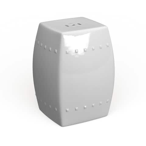 Safavieh Villa White Ceramic Decorative Garden Stool
