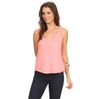 Women's Ultralight Tri Blend Tank Top Lose Fit Athletic Sleeveless Thin Shirt