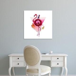 Easy Art Prints Ali Gulec's 'Flamingo Ride' Premium Canvas Art