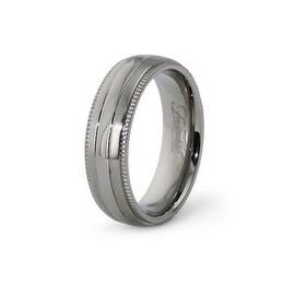 6.5mm Polished Titanium Ring (Sizes 6-12)