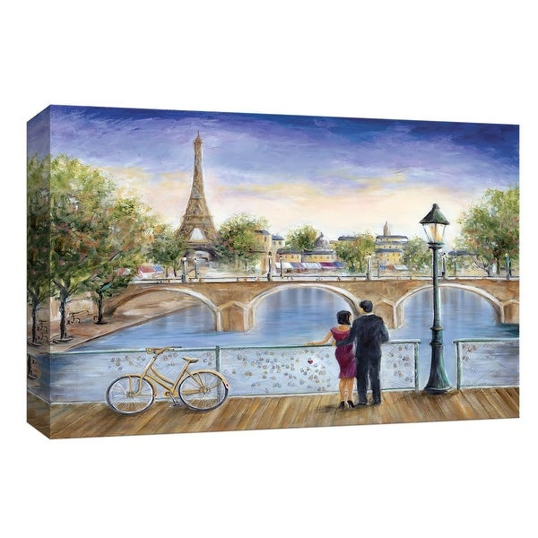 "PTM Images 9-147965 PTM Canvas Collection 8"" x 10"" - ""Locks of Love"" Giclee Paris Art Print on Canvas"