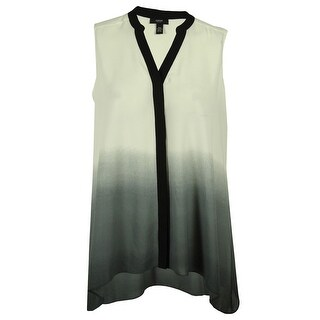 Alfani Women's Handkerchief Hem Sleeveless Top - august ombre