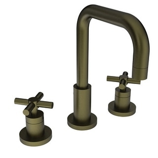 Newport Brass 1400 East Square Widespread Lavatory Faucet with Double Metal Cros