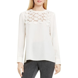Vince Camuto Womens Blouse Embroidered Long Sleeve