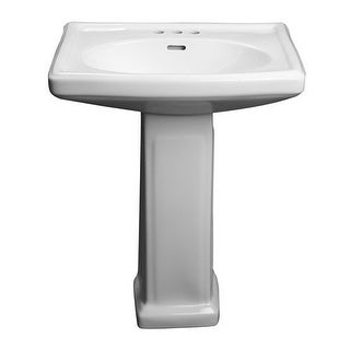 "ProFlo PF14104 27"" Centerset Lavatory Pedestal Sink Only"