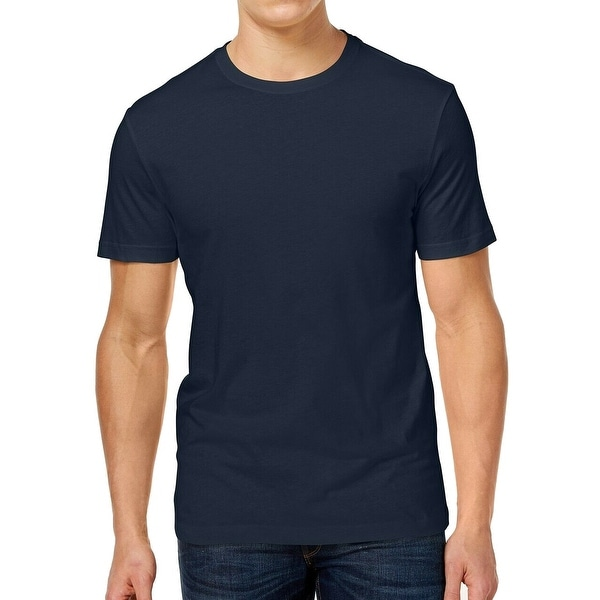 S Pale Ink Blue Club Room Mens Paxton Short Sleeve Crew Neck T-Shirt