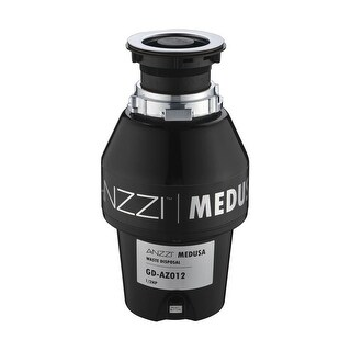Anzzi GD-AZ012 Medusa 1/2 HP Continuous Garbage Disposal - Power Cord Included