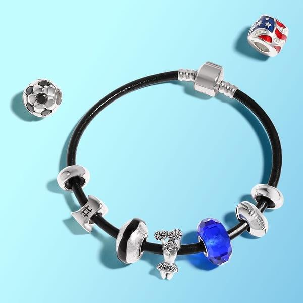 Women Red White Blue Usa Patriotic America Flag Star Stripe Dangle Charm Bead For Women Sterling Silver Fits European Bracelet Jewelry Elektroelement Com Mk