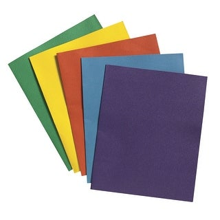School Smart Extra Large 2-Pocket Folder, Assorted Colors, Pack of 25