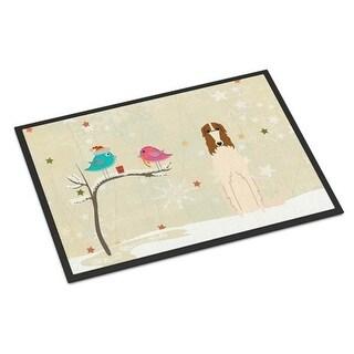 Carolines Treasures BB2495JMAT Christmas Presents Between Friends Borzoi Indoor or Outdoor Mat 24 x 0.25 x 36 in.