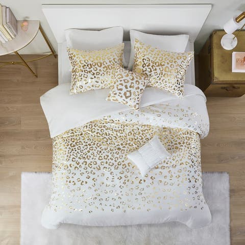 Serena Metallic Animal Printed Duvet Cover Set by Intelligent Design