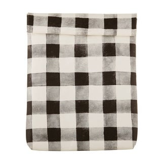 """Link to 5.5"""" x 6.25"""" Black and White Buffalo Checkered Lunch Bag Similar Items in Picnic"""