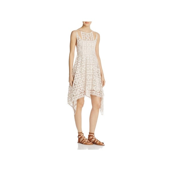 Free People Womens Cocktail Dress Lace Sleeveless