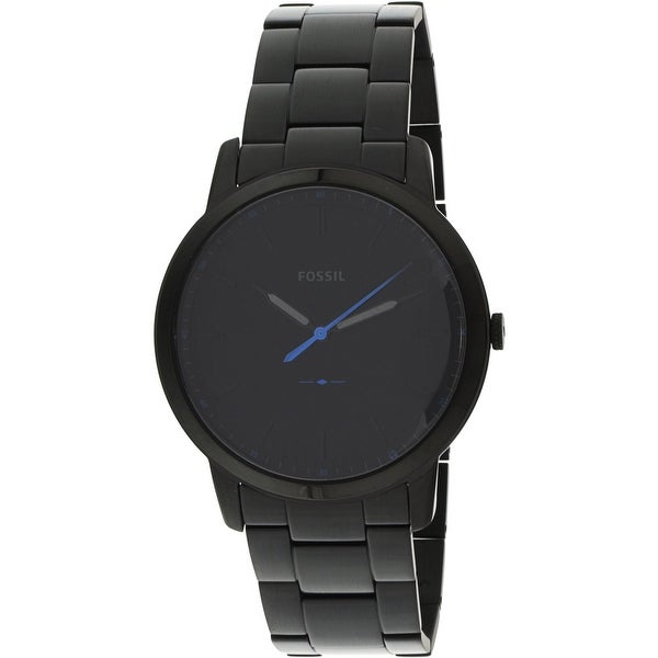 6a15ca0987b Shop Fossil Men s The Minimalist Black Stainless-Steel Fashion Watch - Free  Shipping Today - Overstock - 18914568