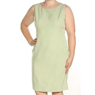 Womens Green Sleeveless Above The Knee Sheath Dress Size: 16