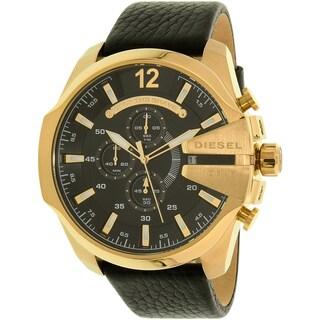 Diesel Men's Mega Chief DZ4344 Gold Leather Quartz Dress Watch