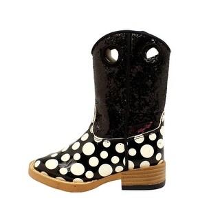 Blazin Roxx Western Boots Girls Pearl Kids Glitter Black