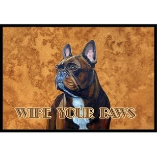 Carolines Treasures LH9455MAT 18 X 27 In. French Bulldog Wipe Your Paws Indoor Or Outdoor Mat