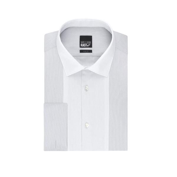 William Rast Men's Small Slim Fit Stripe Dress Shirt